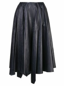 Marni asymmetric leather skirt - Black