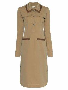 Wales Bonner Safari midi dress - Brown