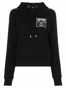 Moschino Teddy Bear embroidered hoodie - Black