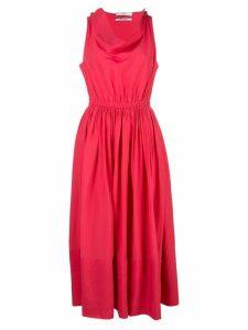 Co flared midi dress - Pink