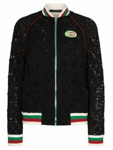 Gucci lace bomber jacket - Black