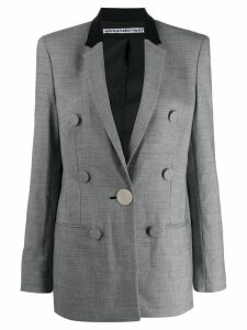 Alexander Wang fitted houndstooth blazer - Black