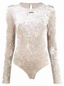 Off-White stretch velvet bodysuit - Neutrals