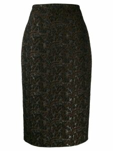 Rochas fitted pencil skirt - Black