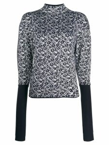 Chloé floral knitted pattern jumper - Blue