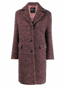 Ermanno Scervino herringbone single-breasted coat - Pink
