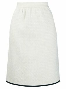 Boutique Moschino tweed skirt - White