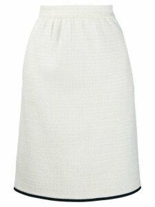 Boutique Moschino tweed skirt - White