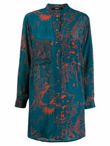 Diesel oversized embroidered shirt - Blue