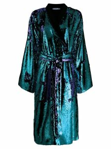 Amen sequined wrap midi dress - Blue
