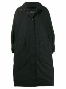 Diesel oversized parka coat - Black
