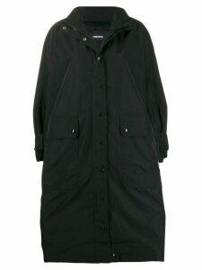 Diesel oversized parka coat - Black