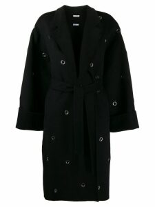 P.A.R.O.S.H. eyelet midi coat - Black