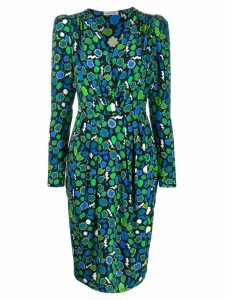 P.A.R.O.S.H. printed wrap dress - Green
