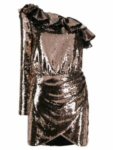 Amen sequined one-sleeve dress - Gold