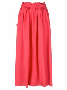 Co elastiated waist full skirt - Pink