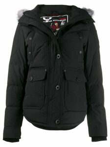 Moose Knuckles fitted padded coat - Black