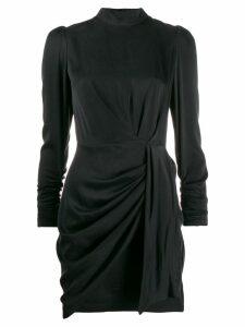 Zimmermann Espionage draped mini dress - Black