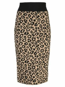 Veronica Beard knitted pencil skirt - Neutrals