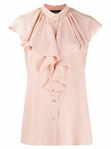Boutique Moschino ruffled crepe blouse - Pink