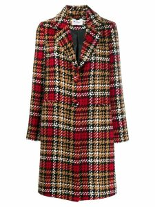 be blumarine houndstooth coat - Red