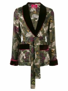 F.R.S For Restless Sleepers Tiger print silk jacket - Green