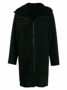 Salvatore Santoro fitted zip up coat - Black