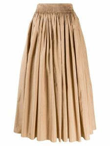 Rochas pleated skirt - Neutrals