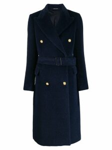 Tagliatore belted double breasted coat - Blue