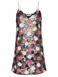 Rotate sequin patchwork mini dress - Multicoloured