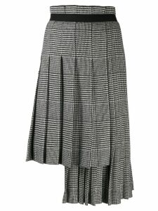 Ermanno Scervino asymmetric pleated skirt - Black