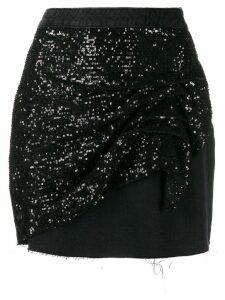 Pinko sequinned mini skirt - Black