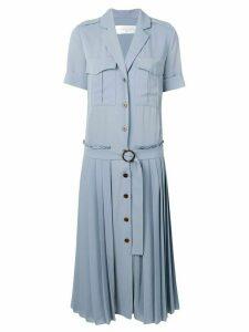 Victoria Victoria Beckham pleat detail shirt dress - Blue
