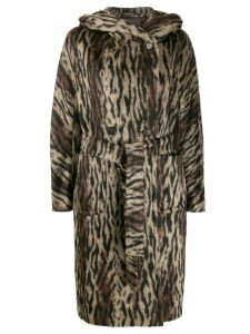 Tagliatore Daisy hooded coat - Brown