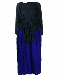 Daniela Gregis belted crinkle dress - Blue