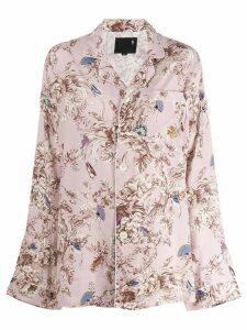R13 floral print pyjama shirt - Pink