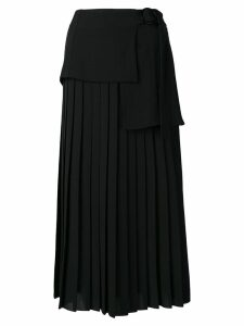 Victoria Victoria Beckham side tie pleated skirt - Black