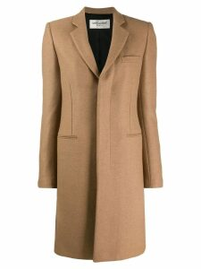 Saint Laurent Abrigo camel wool coat - NEUTRALS