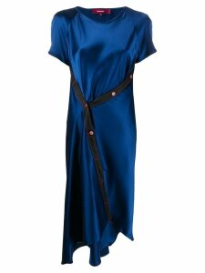 Sies Marjan off-centre buttoned asymmetric dress - Blue