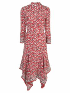 Veronica Beard paisley shirt dress - Red