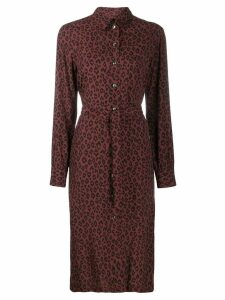 A.P.C. leopard print shirt dress - Brown