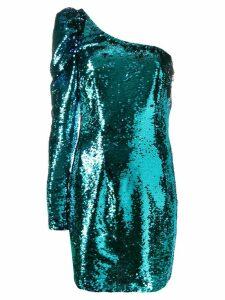 Amen sequined one-sleeve dress - Blue