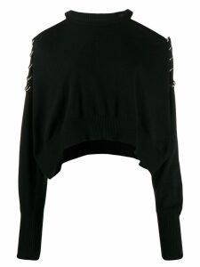 Diesel cold-shoulder sweater - Black