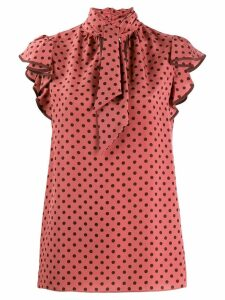 Zimmermann Espionage polka dot blouse - Pink