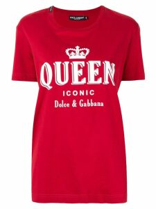 Dolce & Gabbana Iconic Queen print T-shirt - Red