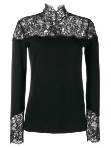 Ermanno Scervino lace inlay sweater - Black