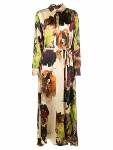 Co printed maxi shirt dress - Multicolour