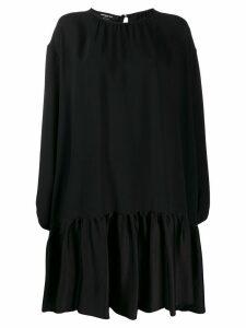 Rochas pleated shift dress - Black