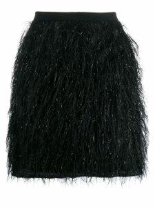 Federica Tosi fringed mini skirt - Black