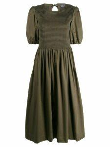 Molly Goddard ribbed panel long dress - Green